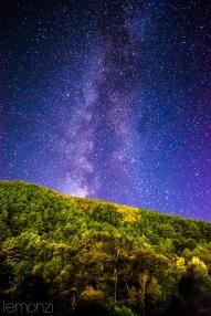 Starry night near Planoles, Pirineus