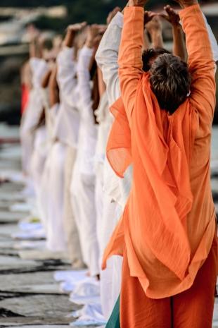 Early morning yoga at Llançà